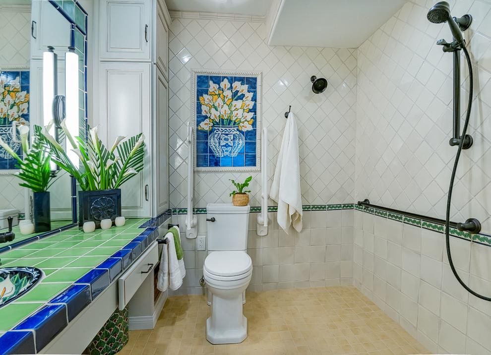 Accessible Bathroom With Pop Of Color CairnsCraft Design Remodel - Accesible bathroom